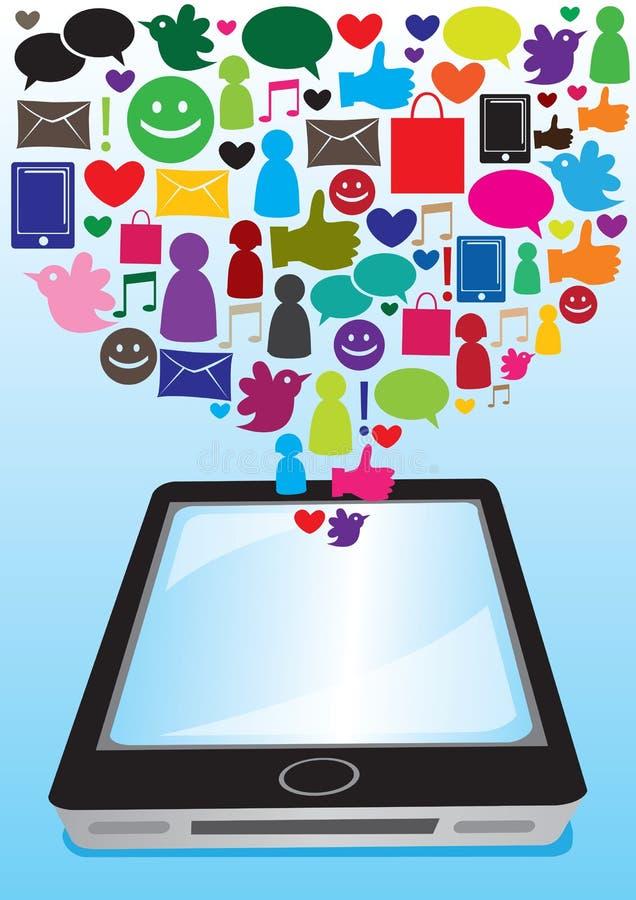 Sociale media mededeling vector illustratie