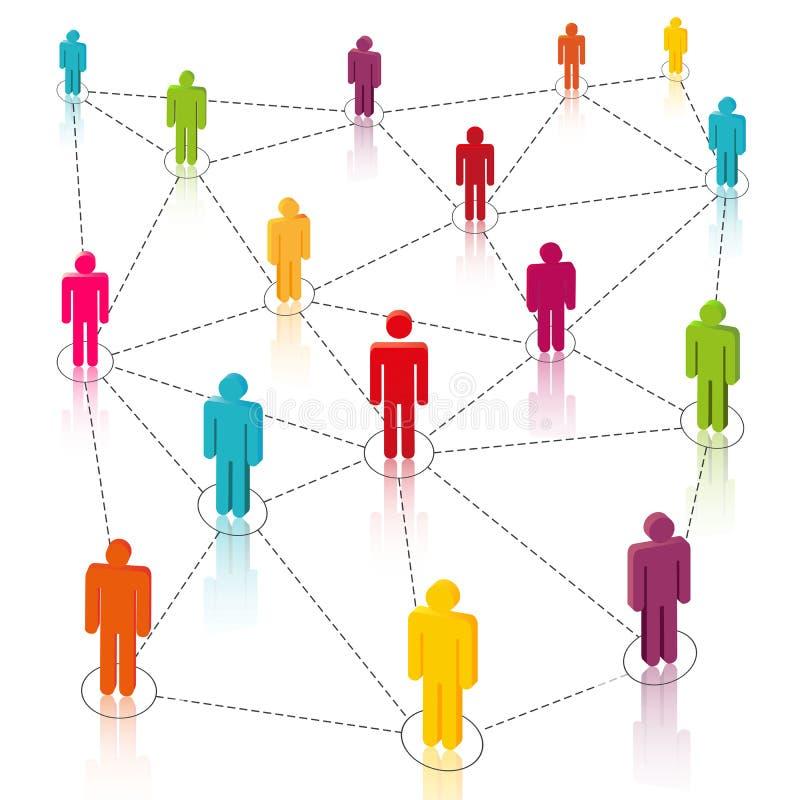 Sociale Media, Netwerk stock illustratie