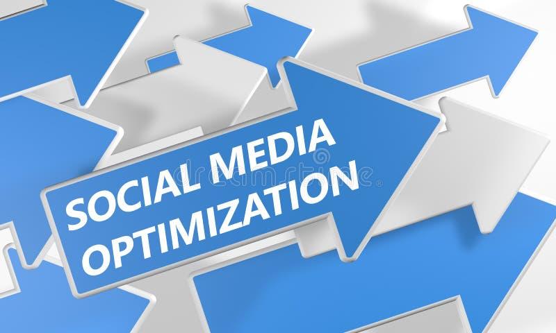 Sociale Media Optimalisering royalty-vrije illustratie