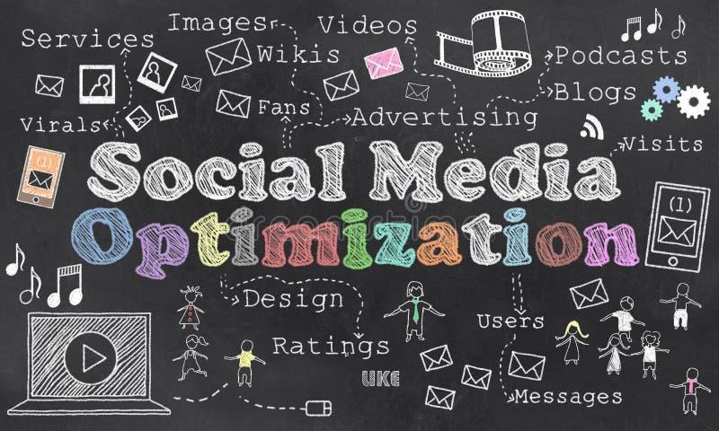 Sociale Media Optimalisering stock illustratie