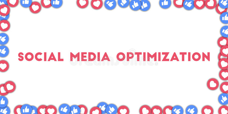 Sociale Media Optimalisering vector illustratie