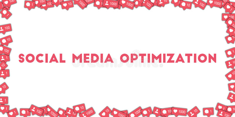 Sociale Media Optimalisering stock illustratie