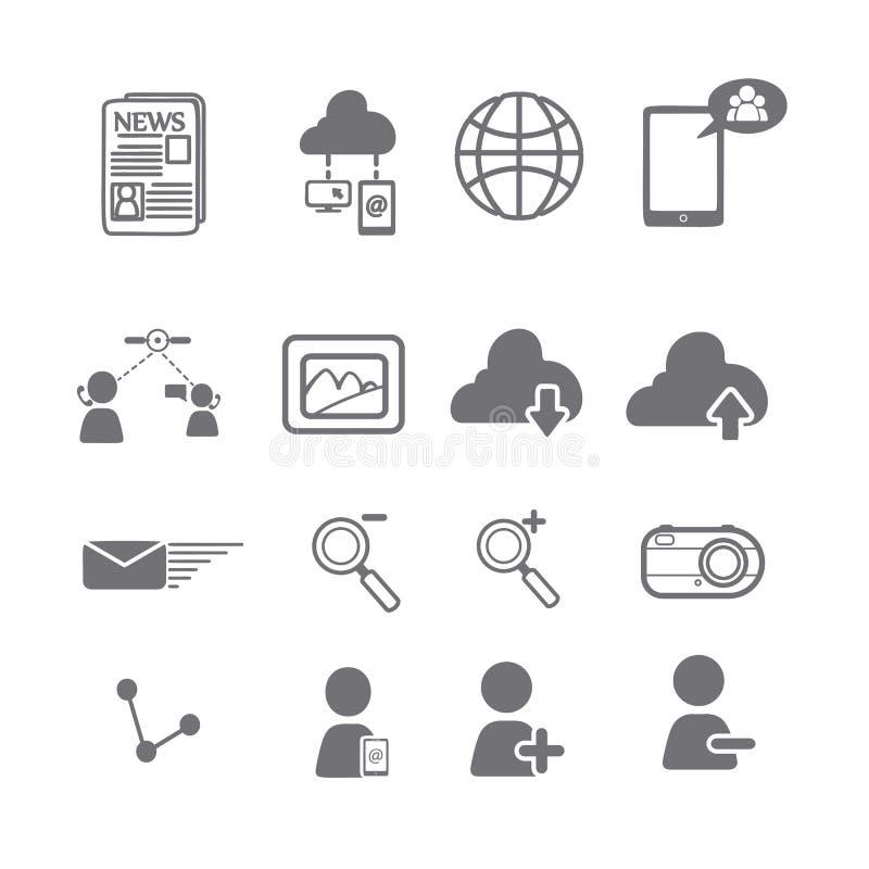 Sociale media pictogrammen eps vector illustratie