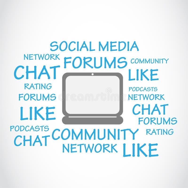 Sociale Media, Praatje, Forums vector illustratie
