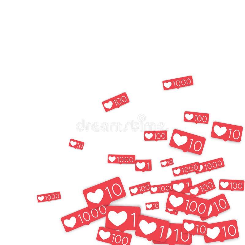 Sociale Media Tellers vector illustratie
