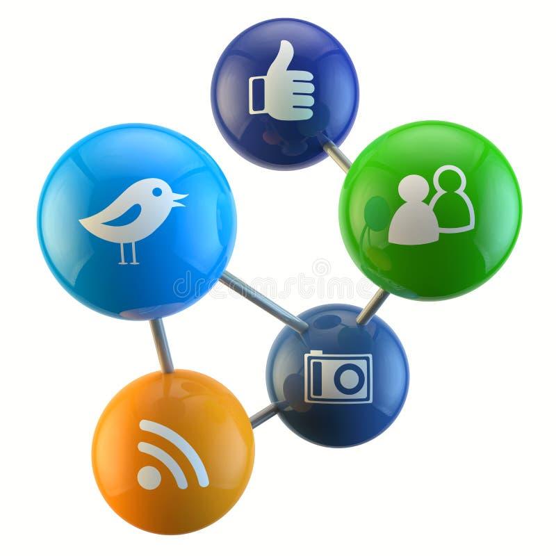 Sociale Media Verbinding royalty-vrije illustratie