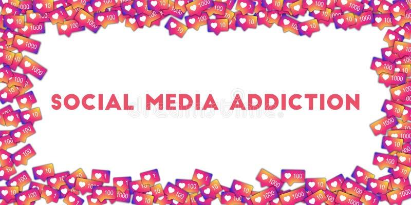 Sociale media verslaving vector illustratie