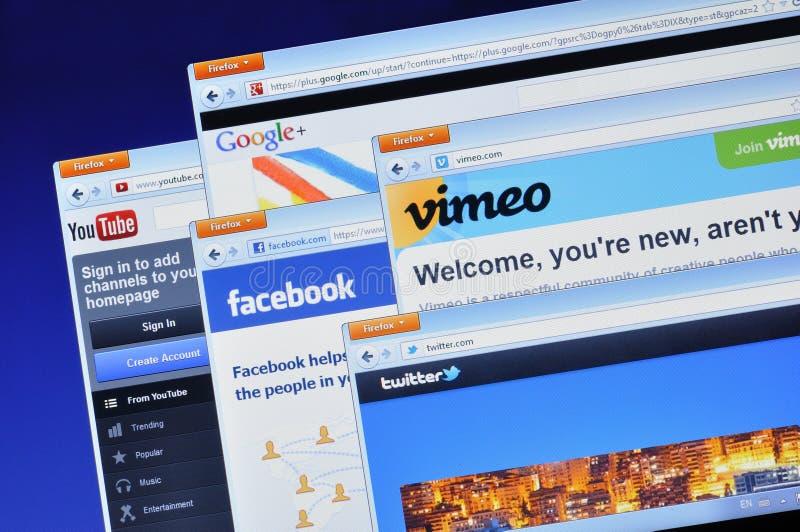 Sociale media websites royalty-vrije stock fotografie