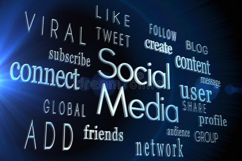 Sociale media woorden vector illustratie