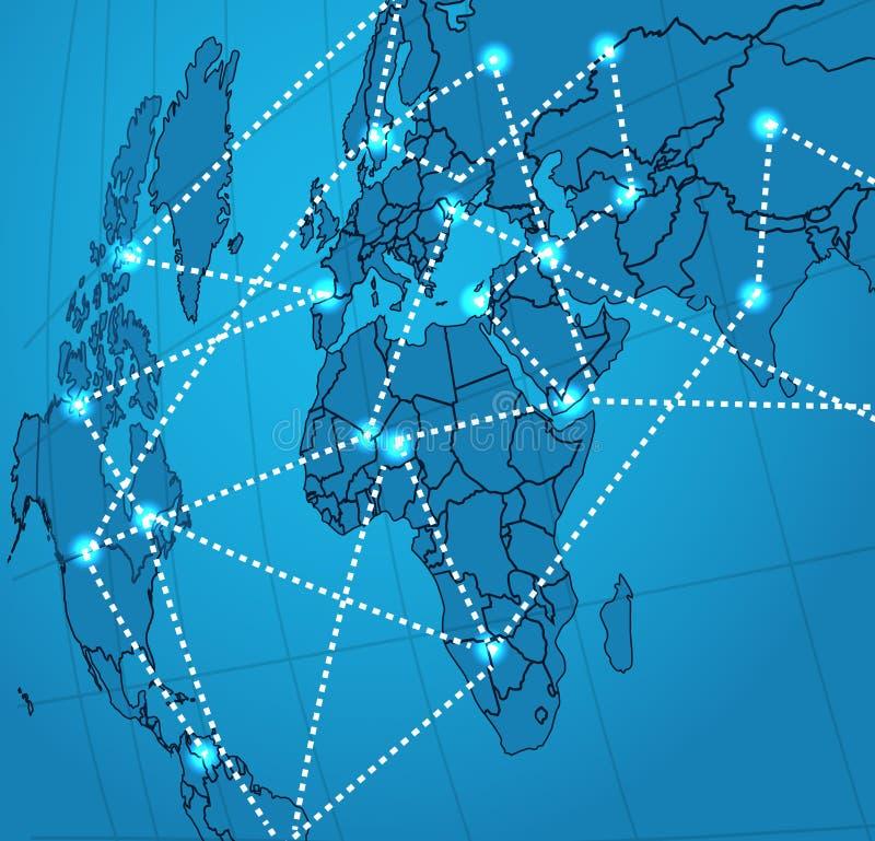 Sociale netwerk abstracte regeling royalty-vrije illustratie