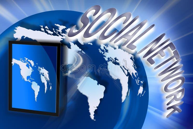 Sociale netwerk en tablet vector illustratie