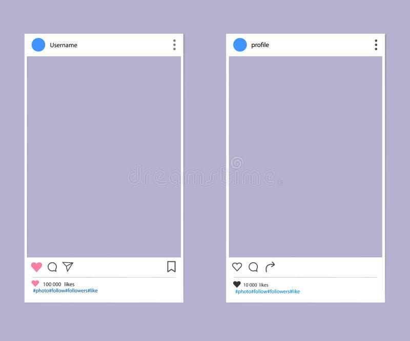 Sociale netwerk postplaats vector illustratie