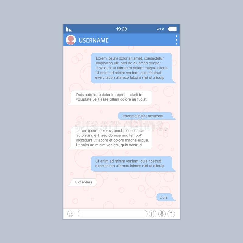 Sociale Netwerkboodschapper Form voor Web en App Grafisch Ontwerp Vector royalty-vrije illustratie