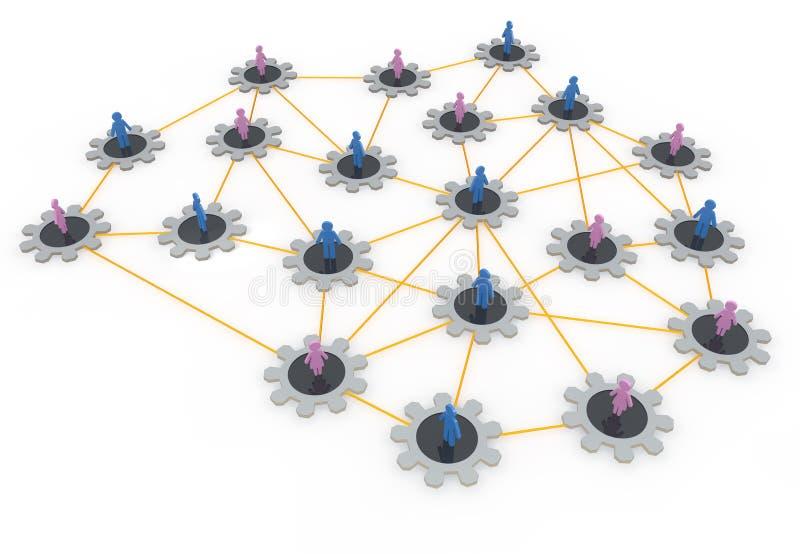 Sociale netwerken stock illustratie
