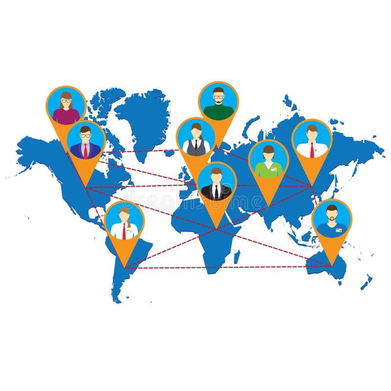 Sociale netwerken Sociale Media vector illustratie