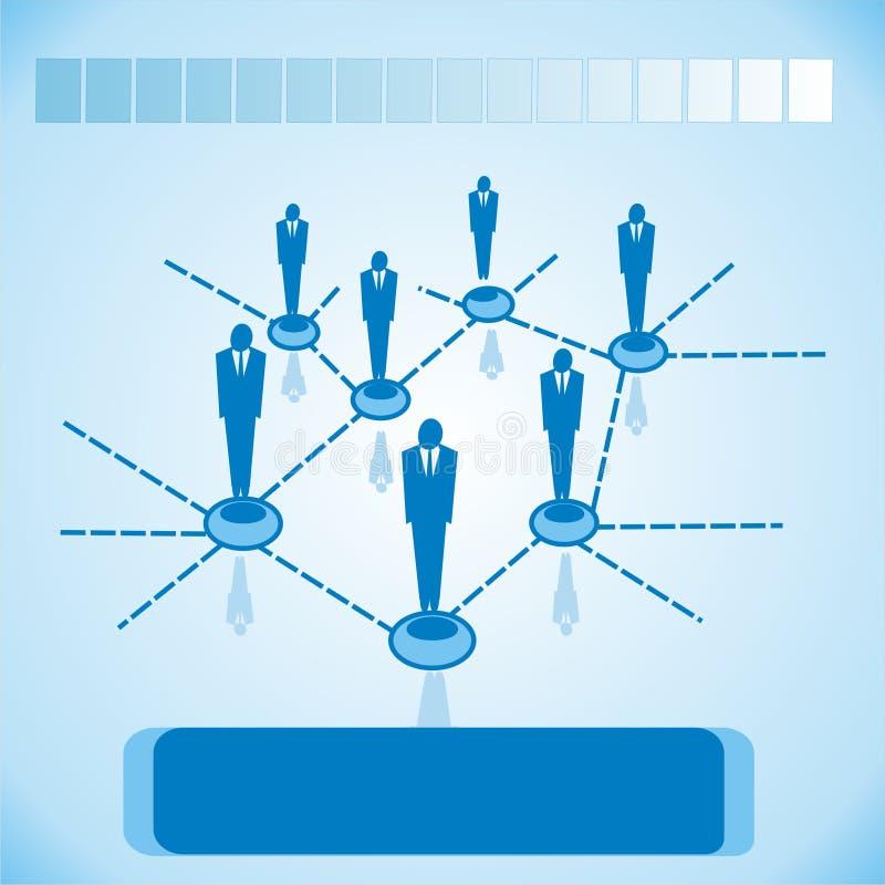 Sociale netwerken voor zaken stock illustratie