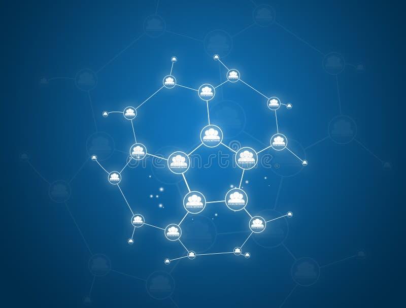 Sociale netwerkgemeenschap vector illustratie