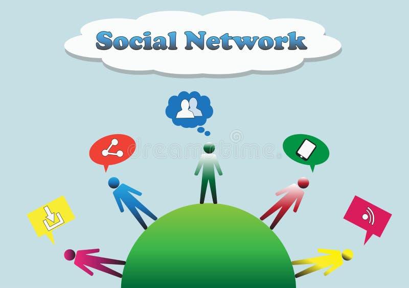 Sociale netwerkillustratie royalty-vrije illustratie