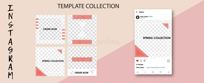 In sociale netwerkmalplaatjes Sociale media banners voor uw ontwerp De Postspot van Editableinstagram omhoog vector illustratie