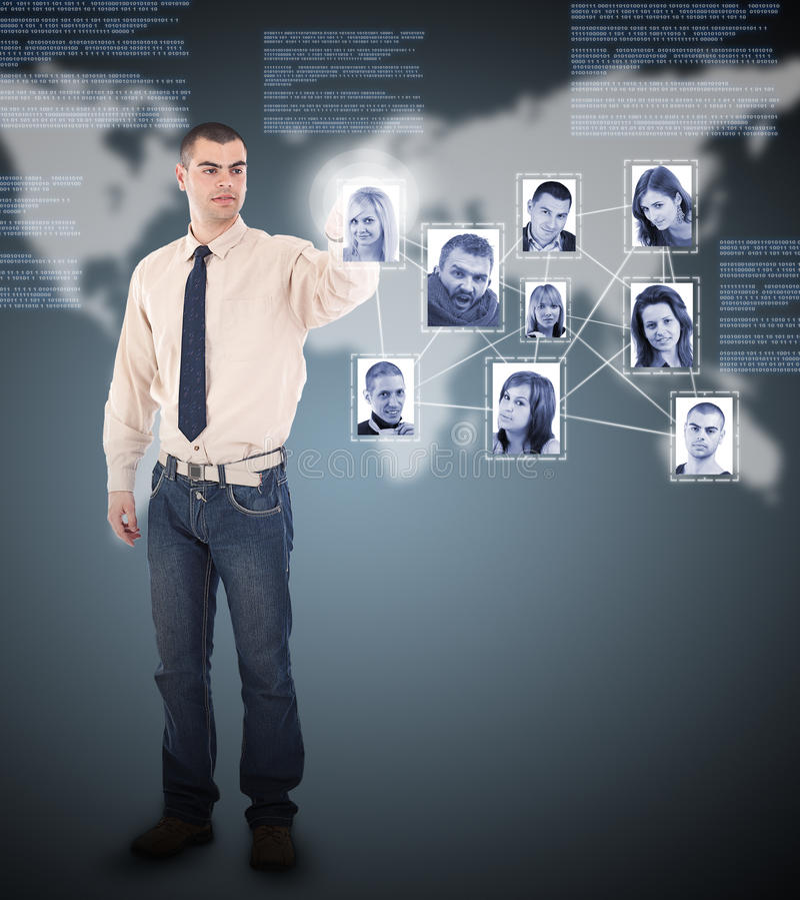 Sociale netwerkstructuur stock foto