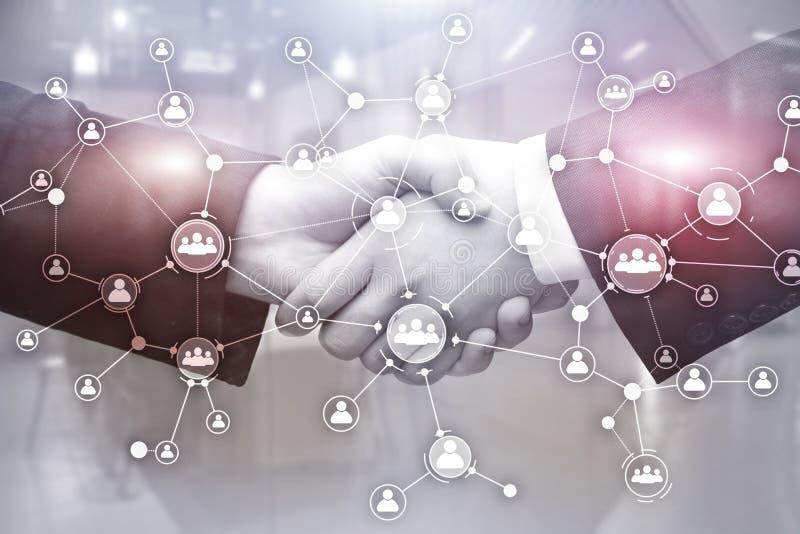Sociale netwerkstructuur De mensen van het pictogram De hoge 3d resolutie geeft terug royalty-vrije illustratie