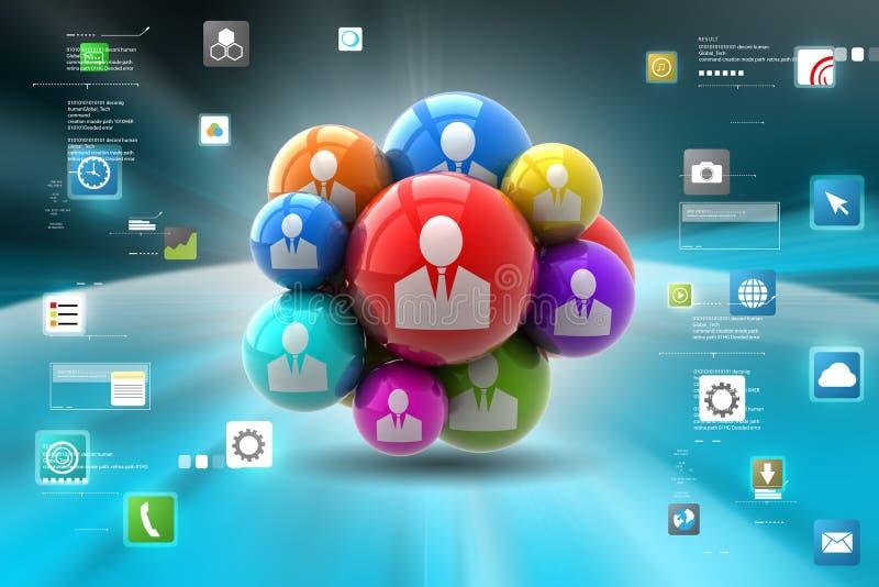 Sociale voorzien van een netwerkbellen vector illustratie