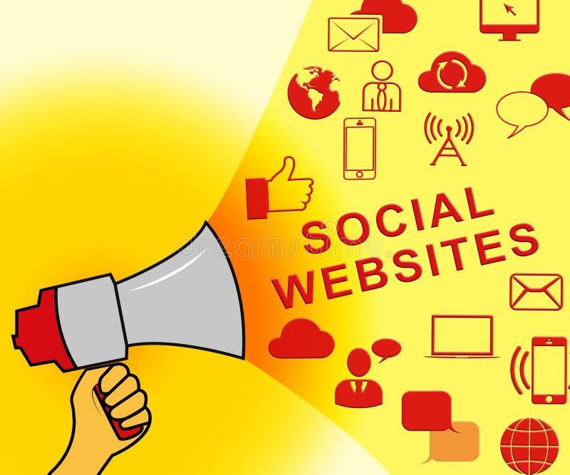 Sociale Websites die Online Forums 3d Illustratie vertegenwoordigen vector illustratie