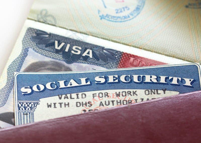 Sociale zekerheidkaart royalty-vrije stock foto's
