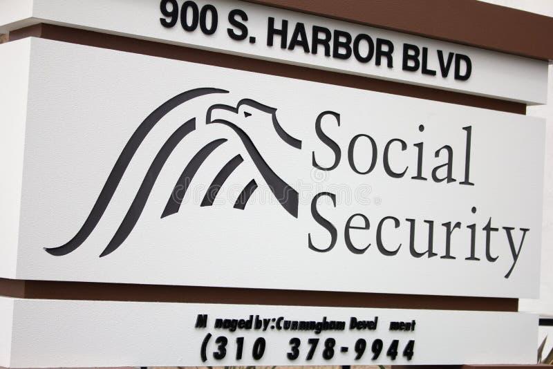 Socialf?rs?kringadministrationstecken arkivbild