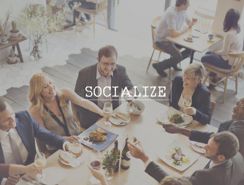 Socialice el concepto del grupo de la unidad de la sociedad de la red de la comunidad fotografía de archivo