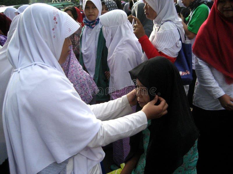 Socialice el hijab foto de archivo libre de regalías
