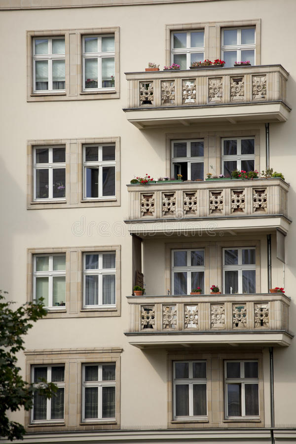 Download Socialist Architecture In Berlin Stock Photo - Image of building, balcony: 21275854
