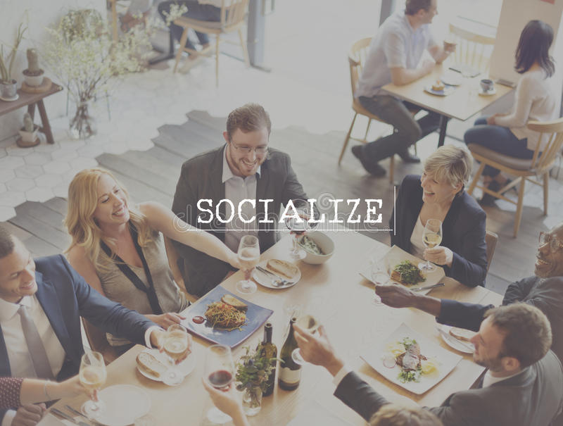 Socialize Community Network Society Unity Group Concept stock photography