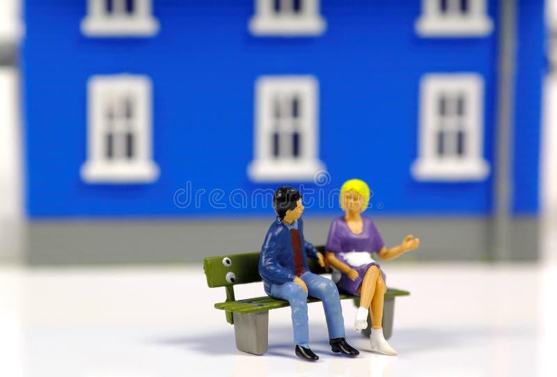 Socializzazione Fotografie Stock