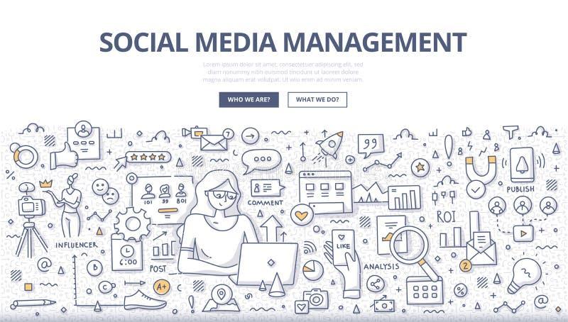 Socialt begrepp f stock illustrationer