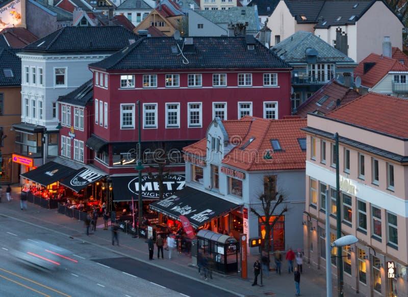 Socialt liv i Bergen, Norge royaltyfri foto
