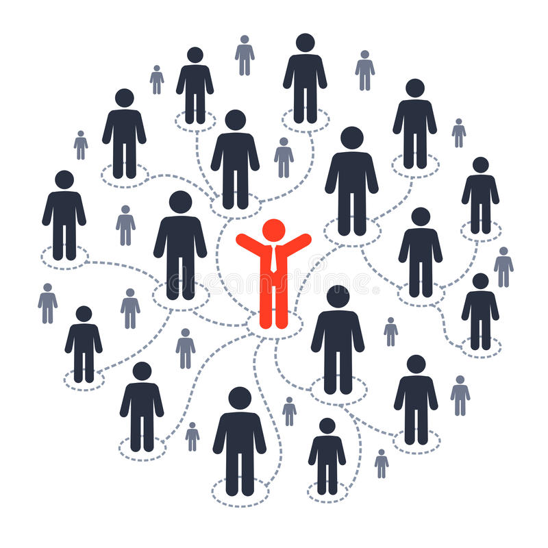 Socialt marknadsföra för massmedia royaltyfri illustrationer