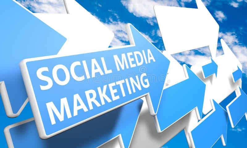 Socialt marknadsföra för massmedia vektor illustrationer