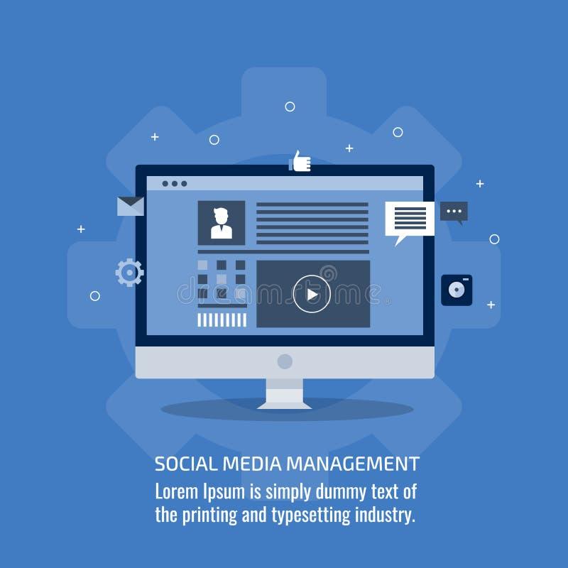 Socialt massmedia, åhörareledning, publikation för digitalt innehåll, begrepp för marknadsföringsaktion Plant designvektorbaner royaltyfri illustrationer