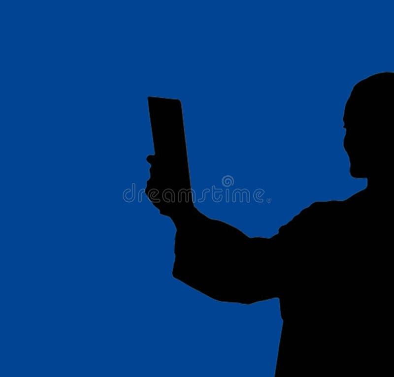 Socialt massmedia, folk som tar bilder med telefonen i hand stock illustrationer