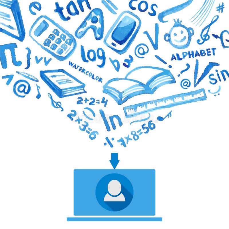 Socialt massmedia, kommunikation i de globala datornäten vektor illustrationer