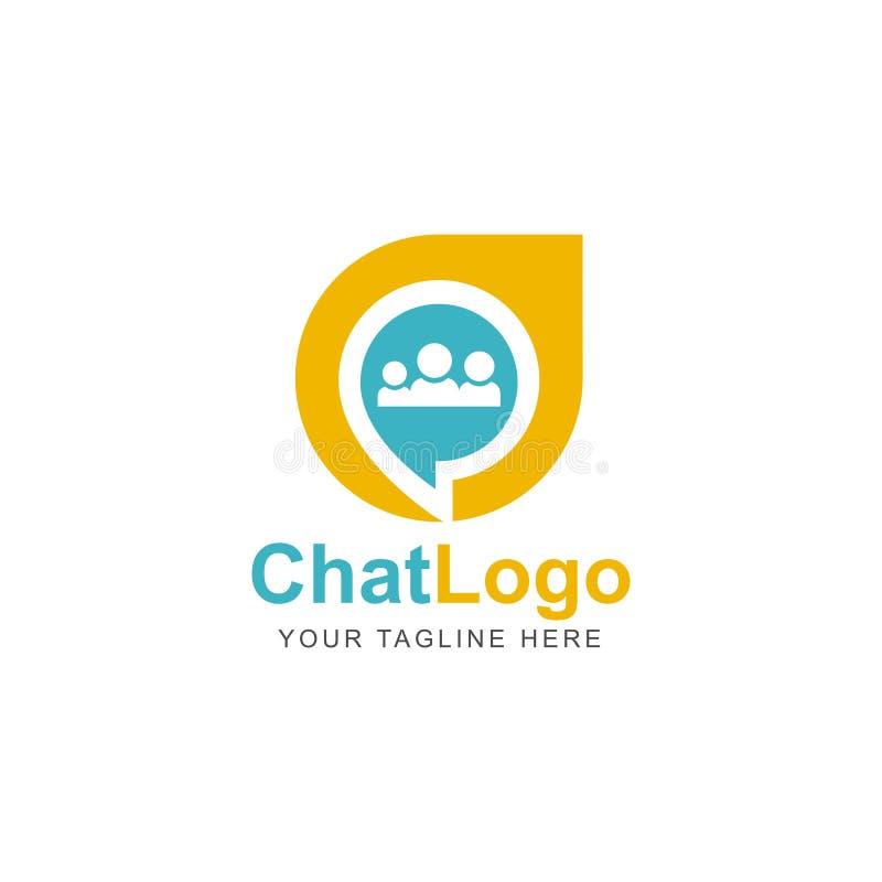 Socialt massmedia Logo Design Inspiration för pratstund stock illustrationer