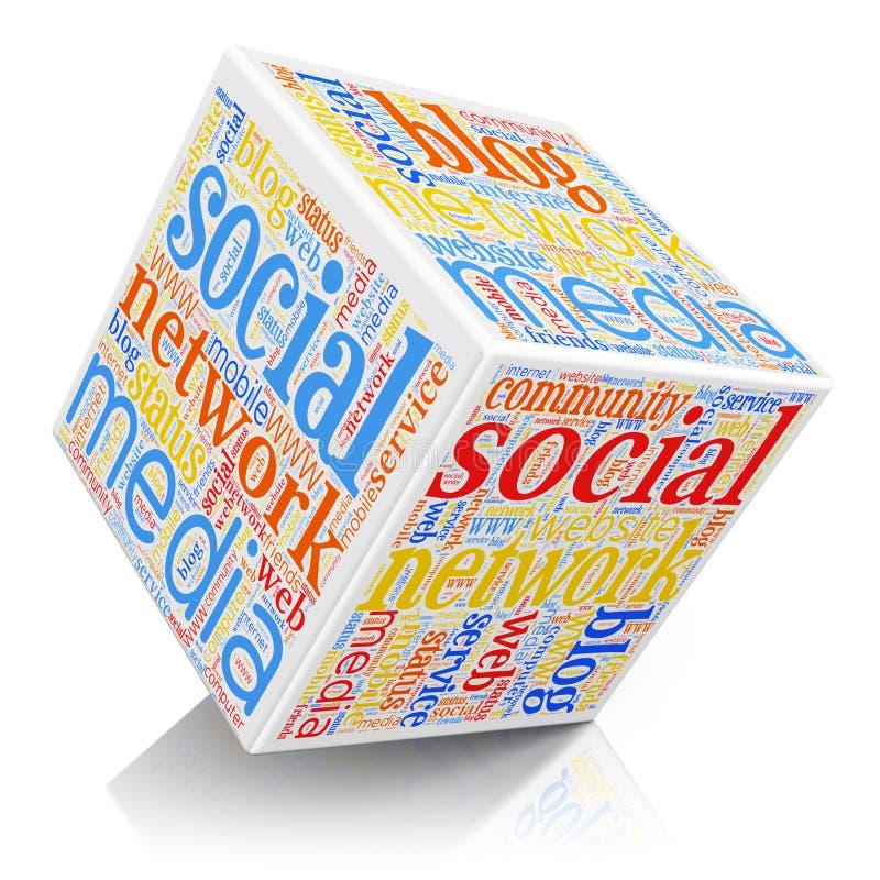 Socialt massmediabegrepp stock illustrationer