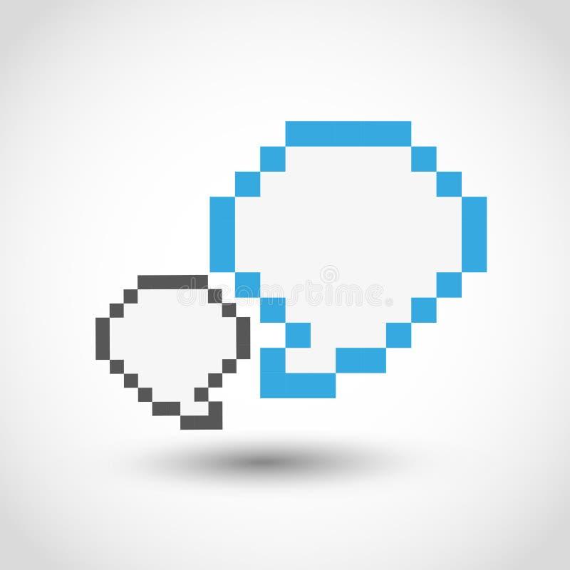 Socialt massmediabegrepp för PIXEL vektor illustrationer