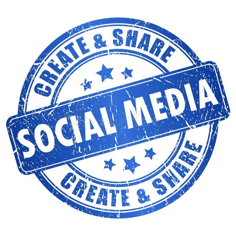 Socialt massmediasymbol royaltyfri illustrationer