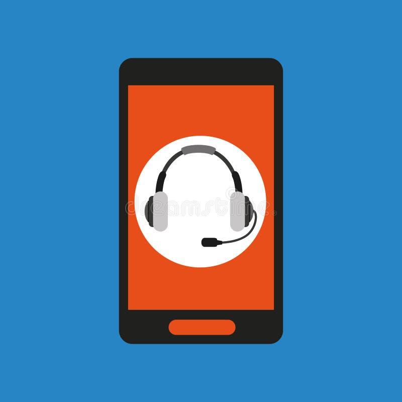 Socialt nätverk för global hörlurar med mikrofon vektor illustrationer