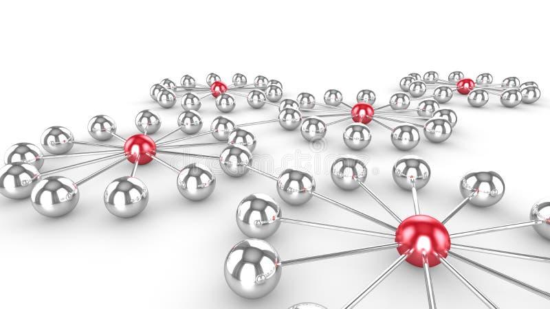 Socialt nätverk med influencer stock illustrationer
