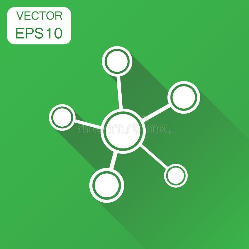 Socialt nätverk, molekyl, dna-symbol Affärsidémolekylpi vektor illustrationer