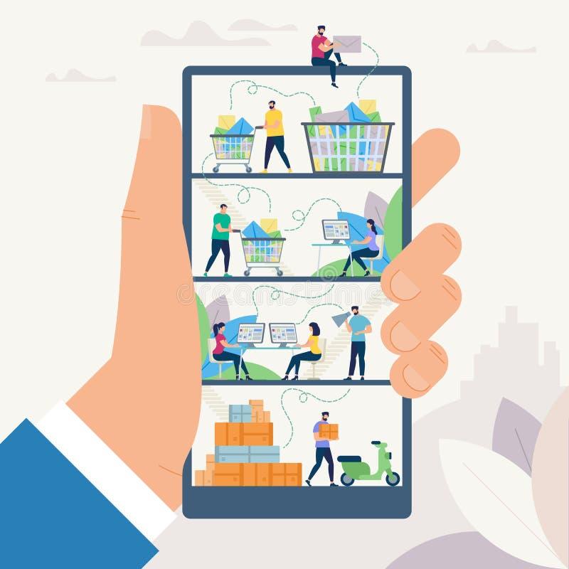 Socialt nätverk och Messaging också vektor för coreldrawillustration stock illustrationer