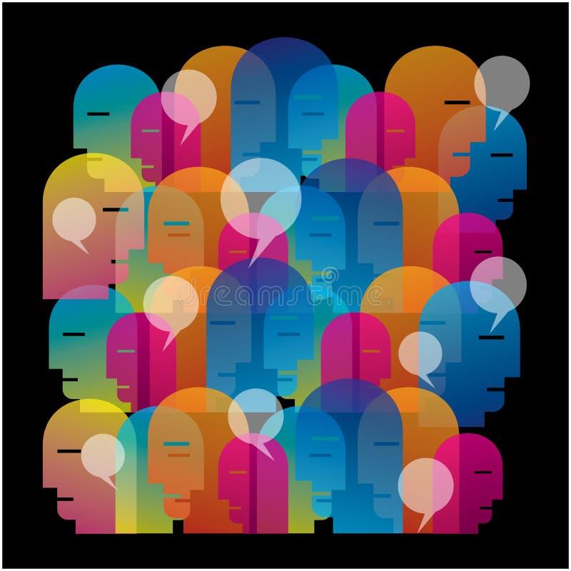 Socialt nätverkandemassmedia royaltyfri illustrationer